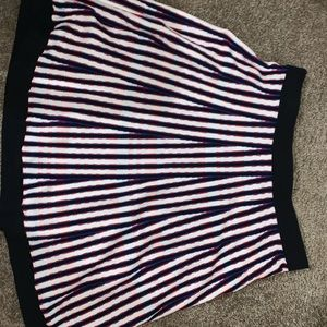 Red, white, and blue skirt